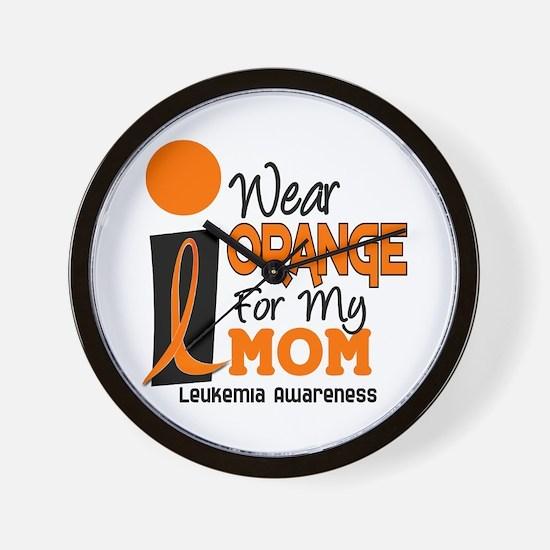I Wear Orange For My Mom 9 Wall Clock
