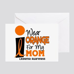 I Wear Orange For My Mom 9 Greeting Card