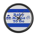 Baby Mama to Be Large Wall Clock