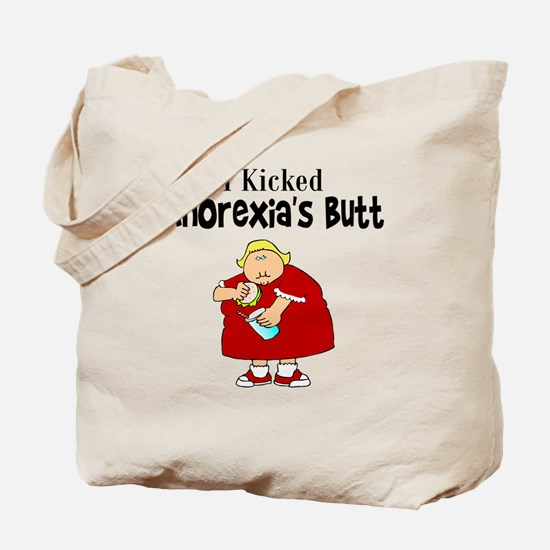 I Kicked Anorexia's Butt Tote Bag