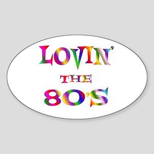 80's Oval Sticker