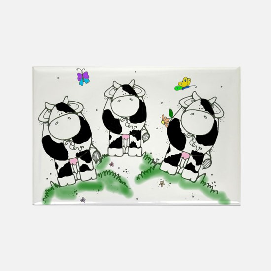 Cows and butterflies Rectangle Magnet