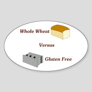 Wheat vs. Gluten Free Oval Sticker