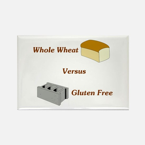 Wheat vs. Gluten Free Rectangle Magnet