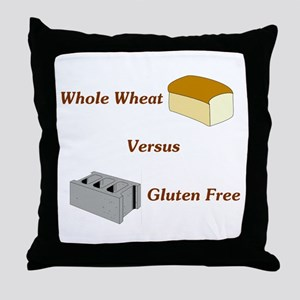 Wheat vs. Gluten Free Throw Pillow