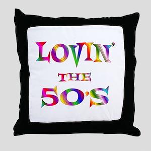 50's Throw Pillow
