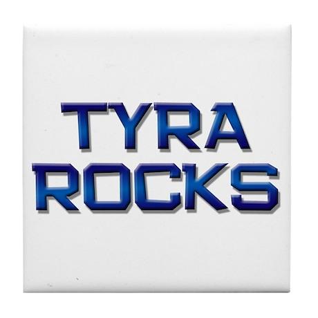 tyra rocks Tile Coaster