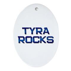 tyra rocks Oval Ornament