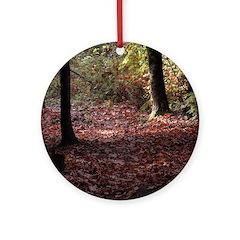 Autumn Leaves Round Ornament