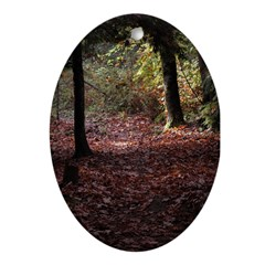 Autumn Leaves Oval Ornament