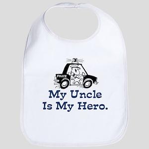 My Uncle is My Hero Bib