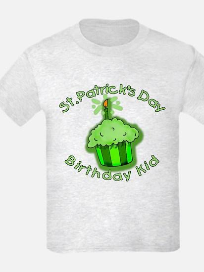 St Patricks Day Birthday Kid T-Shirt