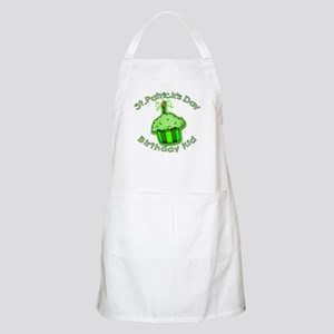 St Patricks Day Birthday Kid Apron
