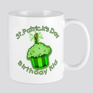 St Patricks Day Birthday Kid Mug