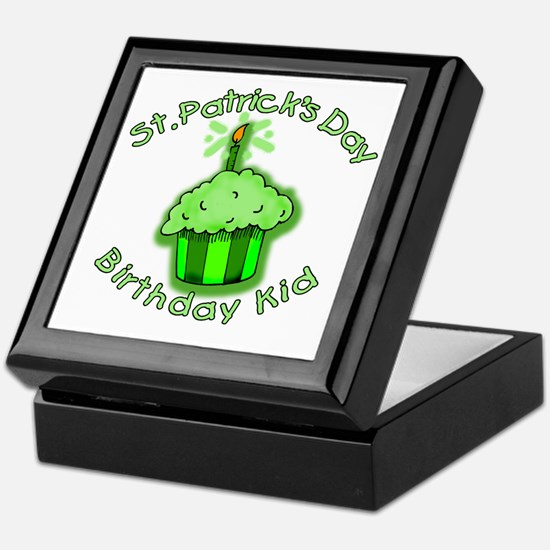 St Patricks Day Birthday Kid Keepsake Box