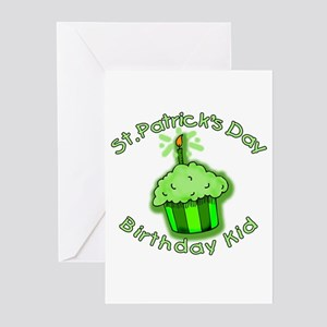 Irish birthday greeting cards cafepress st patricks day birthday kid greeting cards pk of m4hsunfo Gallery
