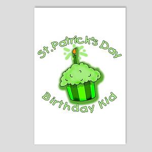 St Patricks Day Birthday Kid Postcards (Package of
