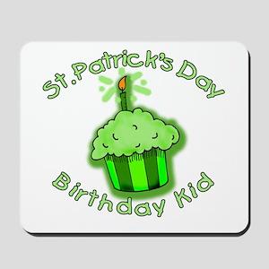 St Patricks Day Birthday Kid Mousepad