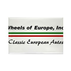 Wheels of Europe Rectangle Magnet (10 pack)