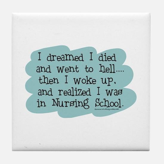 Nursing School Hell Tile Coaster