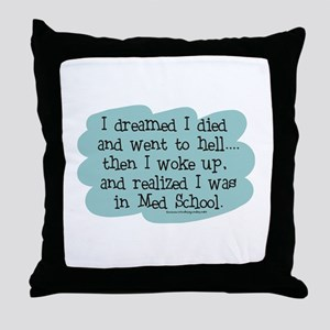 Med School Hell Throw Pillow