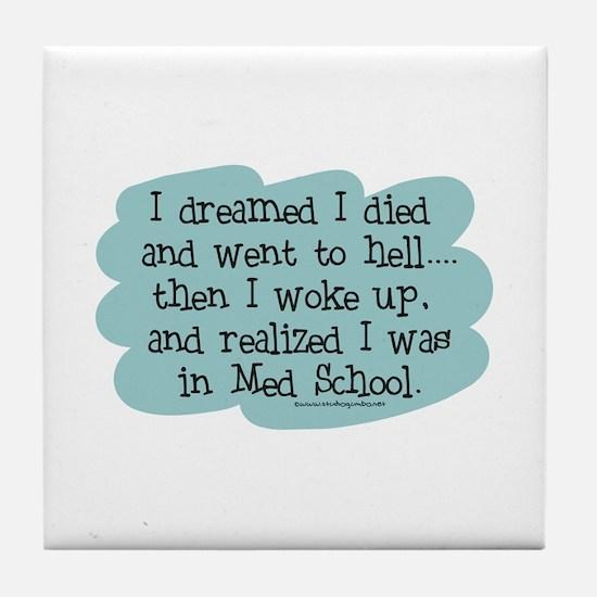 Med School Hell Tile Coaster
