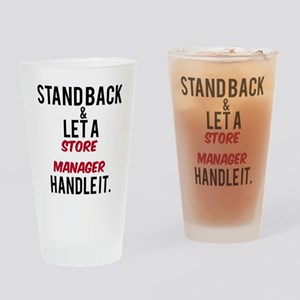 Store Manager Drinking Glass