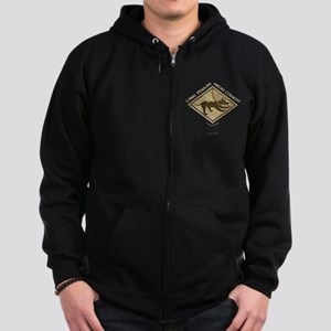 Dog Ate My Homework Zip Hoodie (dark)