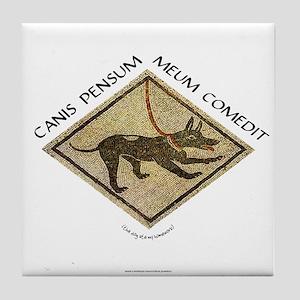 Dog Ate My Homework Tile Coaster
