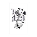 Polka Hero Rectangle Sticker 10 pk)