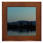 Evening Water Scene Framed Tile