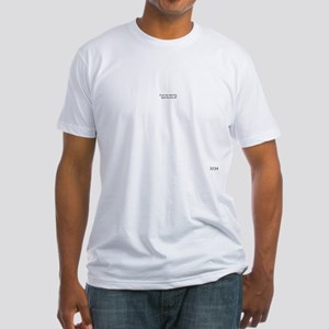 if you can read this back the Fitted T-Shirt