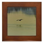 Heron Flight at Night Framed Tile