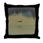 Heron Flight at Night Throw Pillow
