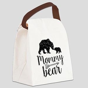 Mommy Bear Canvas Lunch Bag