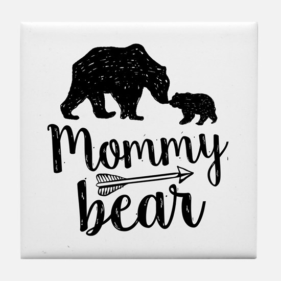 Mommy Bear Tile Coaster