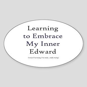 Inner Edward Oval Sticker