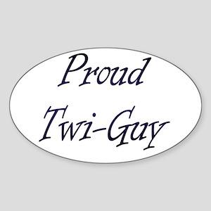 Twi-Guy Oval Sticker