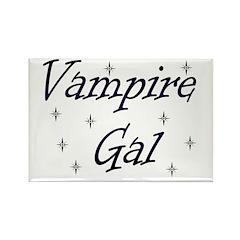 Vampire Gal Rectangle Magnet