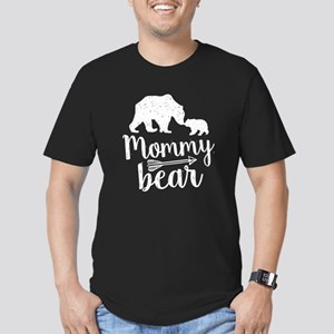 Mommy Bear Men's Fitted T-Shirt (dark)