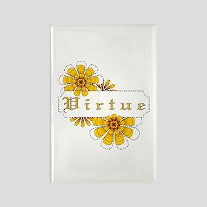 "Rectangle Magnet: ""Virtue"""