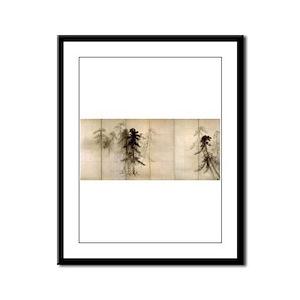 Pine Trees Framed Panel Print