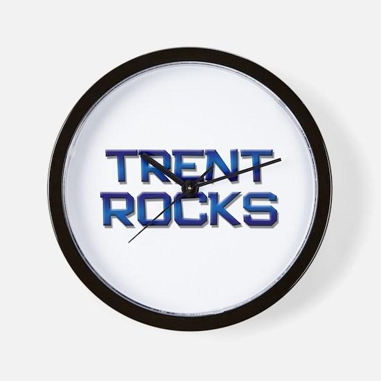 trent rocks Wall Clock