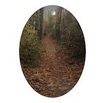 Autumn Path Oval Ornament