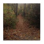 Autumn Path Tile Coaster