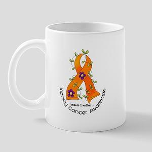 Flower Ribbon KIDNEY CANCER Mug