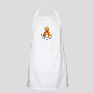 Flower Ribbon KIDNEY CANCER BBQ Apron