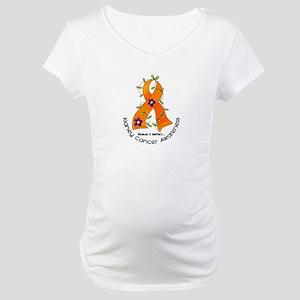 Flower Ribbon KIDNEY CANCER Maternity T-Shirt