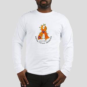 Flower Ribbon KIDNEY CANCER Long Sleeve T-Shirt