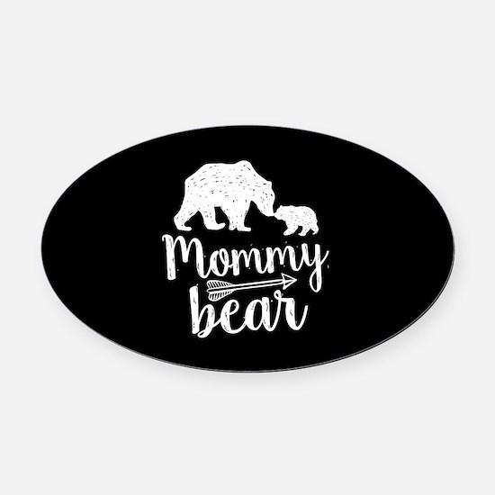 Mommy Bear Oval Car Magnet